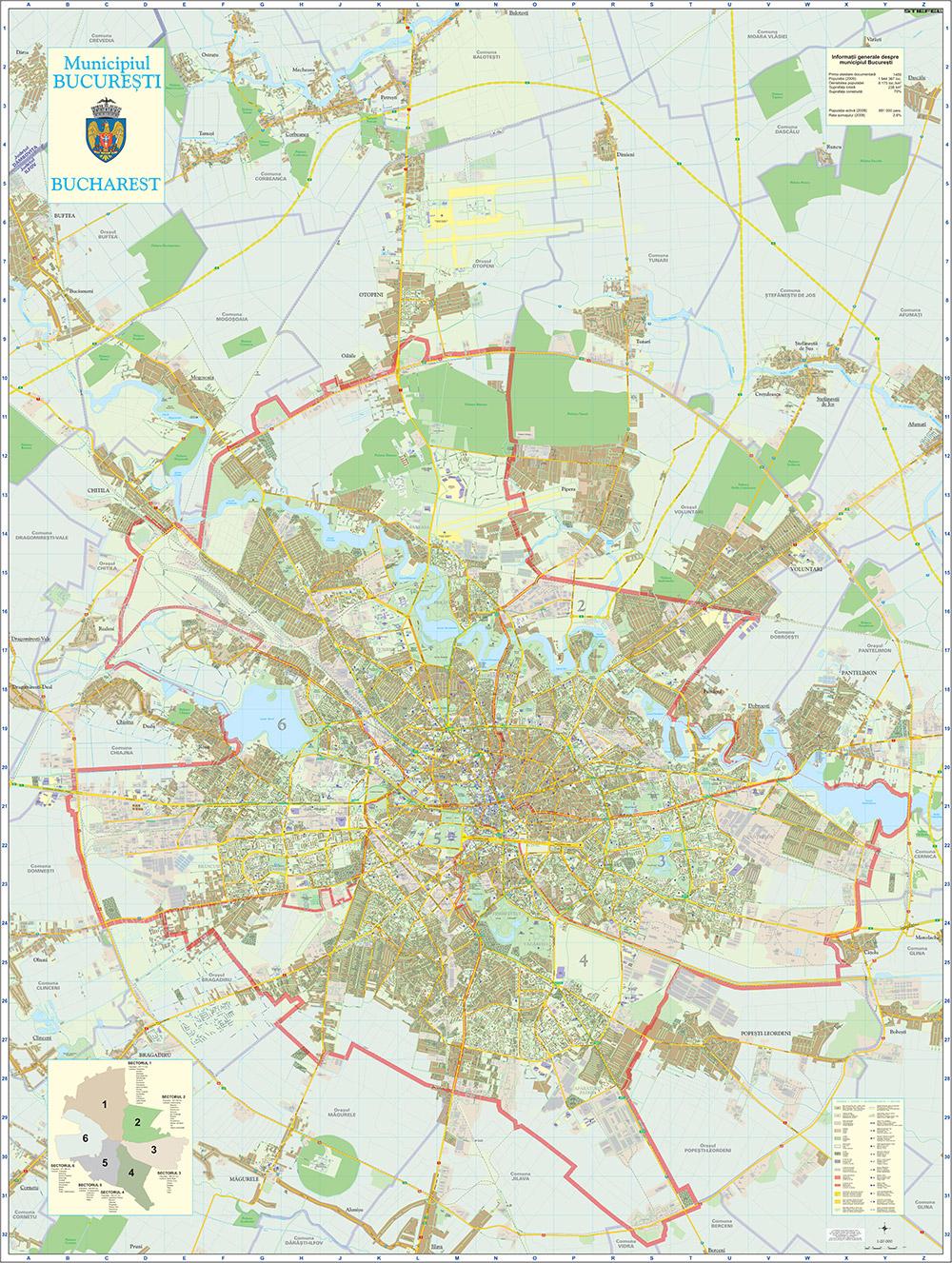 Harta Bucuresti Harta Personalizata