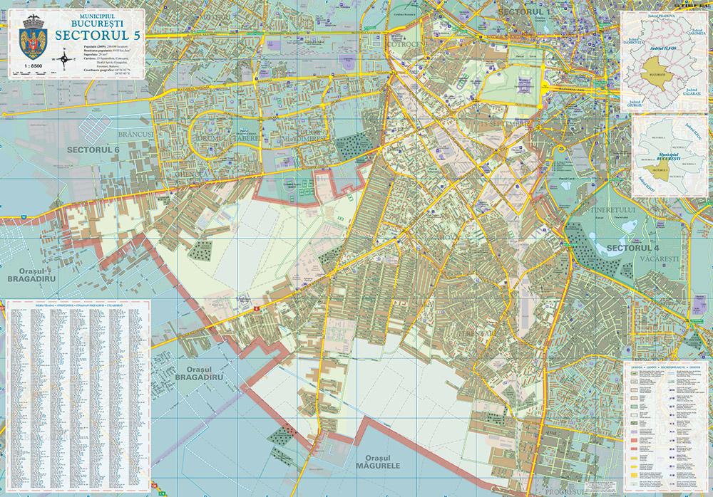 harta sectoare bucuresti Harta Bucuresti   Harta personalizata harta sectoare bucuresti