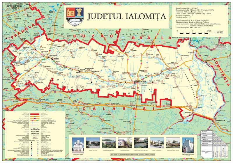 Consiliul Judetean Ialomita Harta De Perete