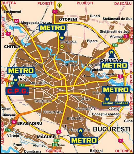 Metro Bucuresti Harta Online Business Map
