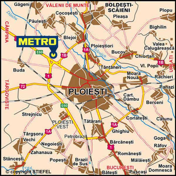 Metro Ploiesti Harta Online Business Map