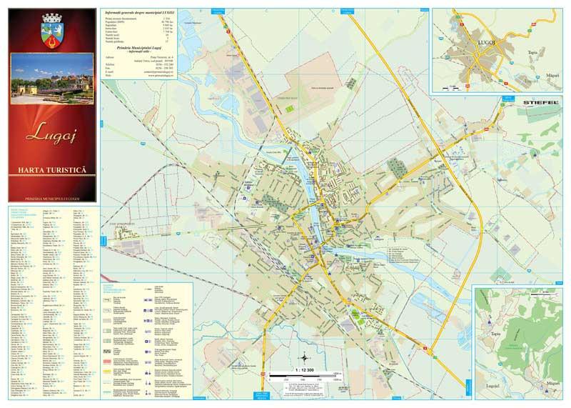 Primaria Lugoj Harta Pliabila Fata Business Map