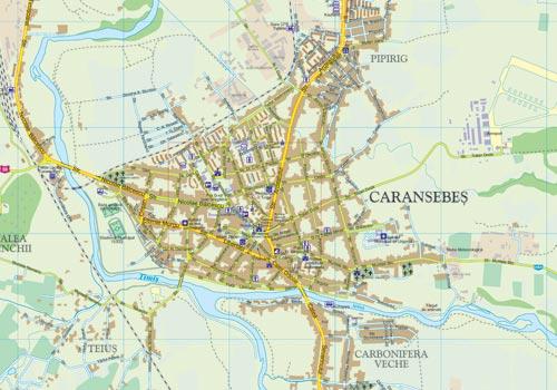 Harta Caransebes Municipiu Business Map