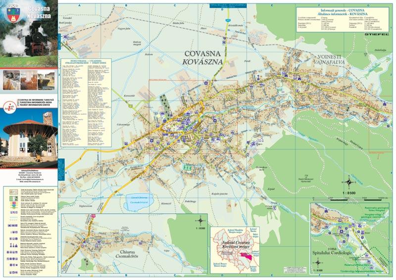 Harta Orasului Covasna Harta Personalizata