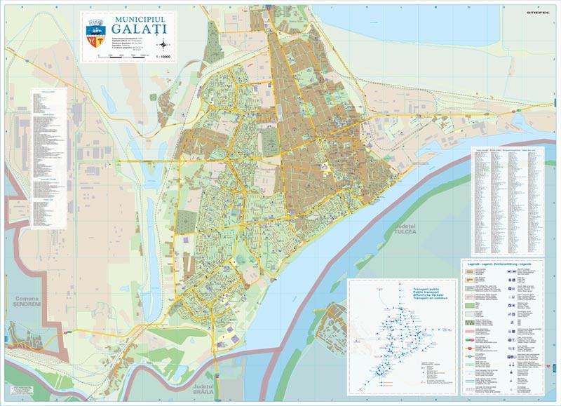 Harta Municipiului Galati Harta Personalizata