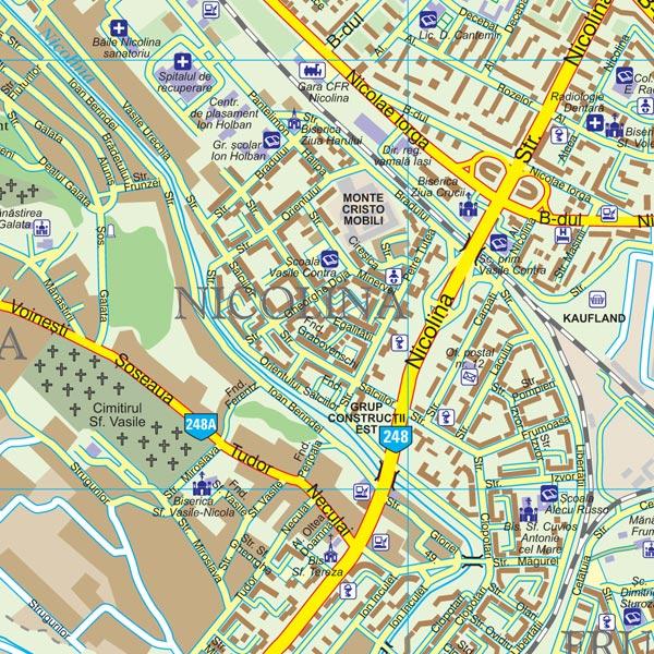 Harta Municipiului Iasi Harta Personalizata