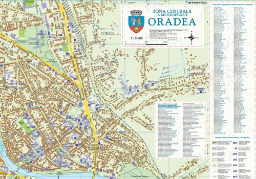 Harta Oradea Municipiu Business Map