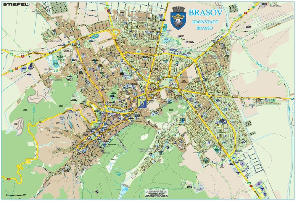 Harta personalizata Municipiul Brasov pentru Brahouse Business Map