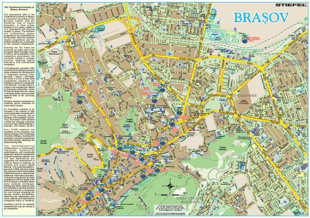 Harta Personalizata Municipiul Brasov Pentru Universitatea