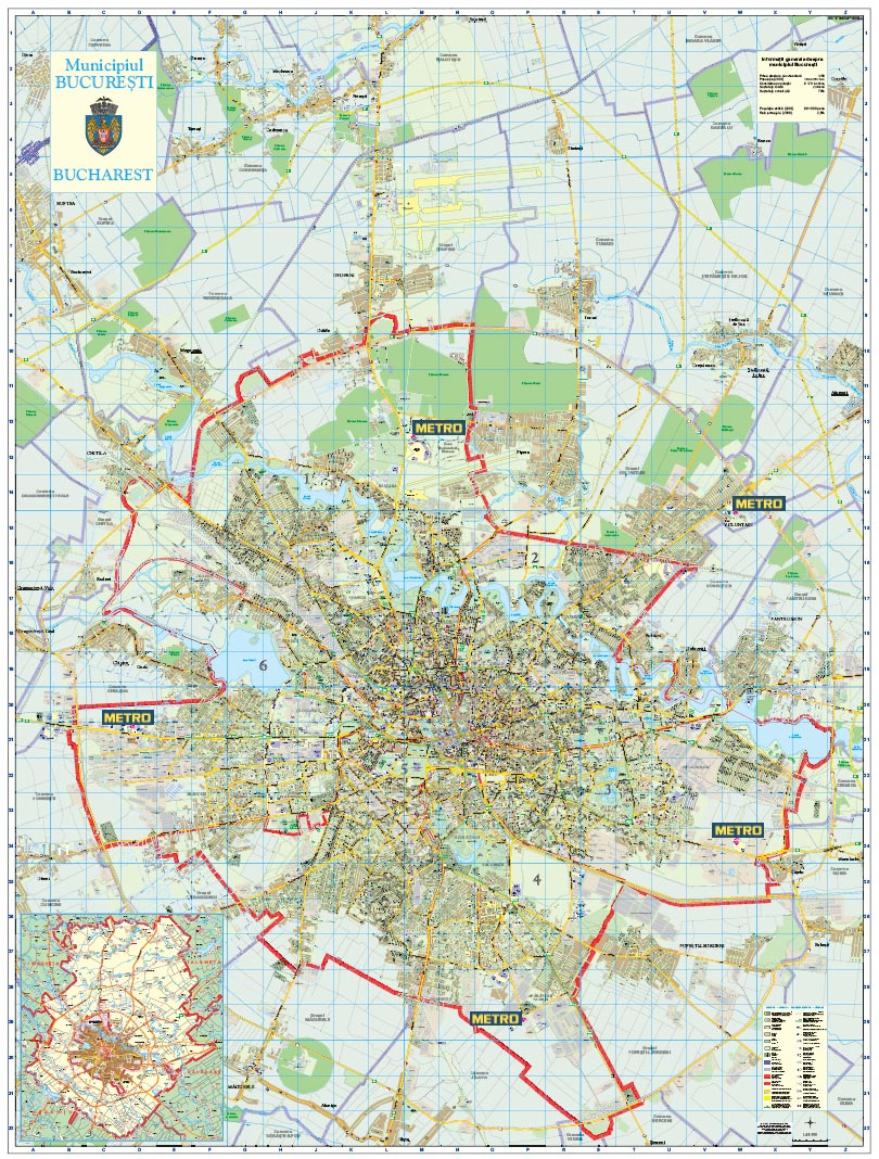 Harta Personalizata Bucuresti Pentru Metro Business Map