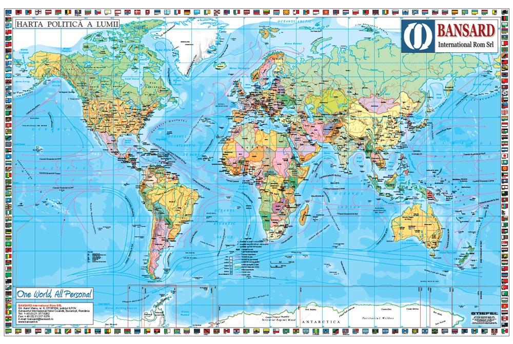 Harta Personalizata Lumea Politica Pentru Bansard International