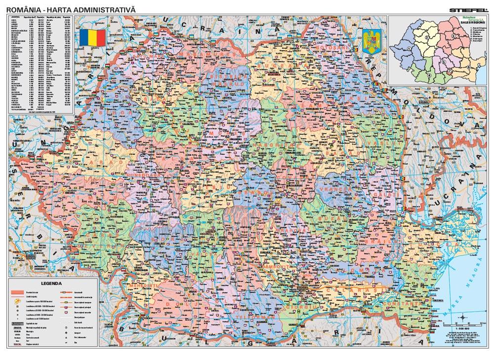 Harta Personalizata Romania Administrativa Pentru Heineken