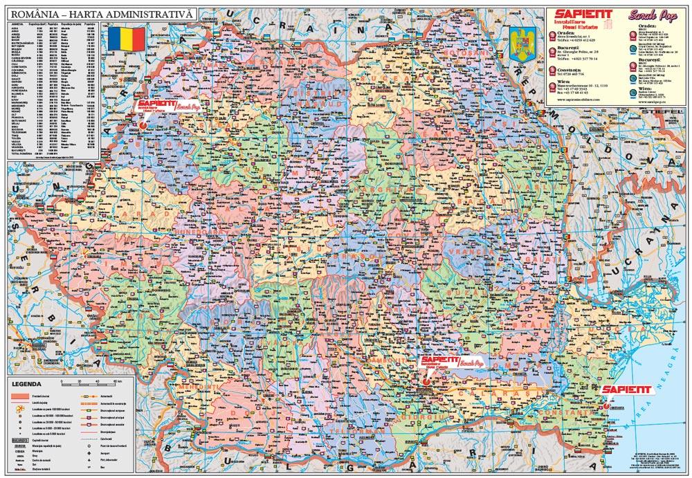 Harta Personalizata Romania Administrativa Pentru Sapient