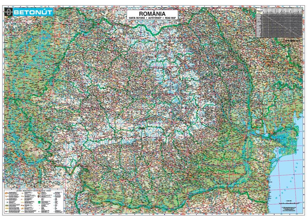 Harta Personalizata Romania Rutiera Pentru Betonut Business Map