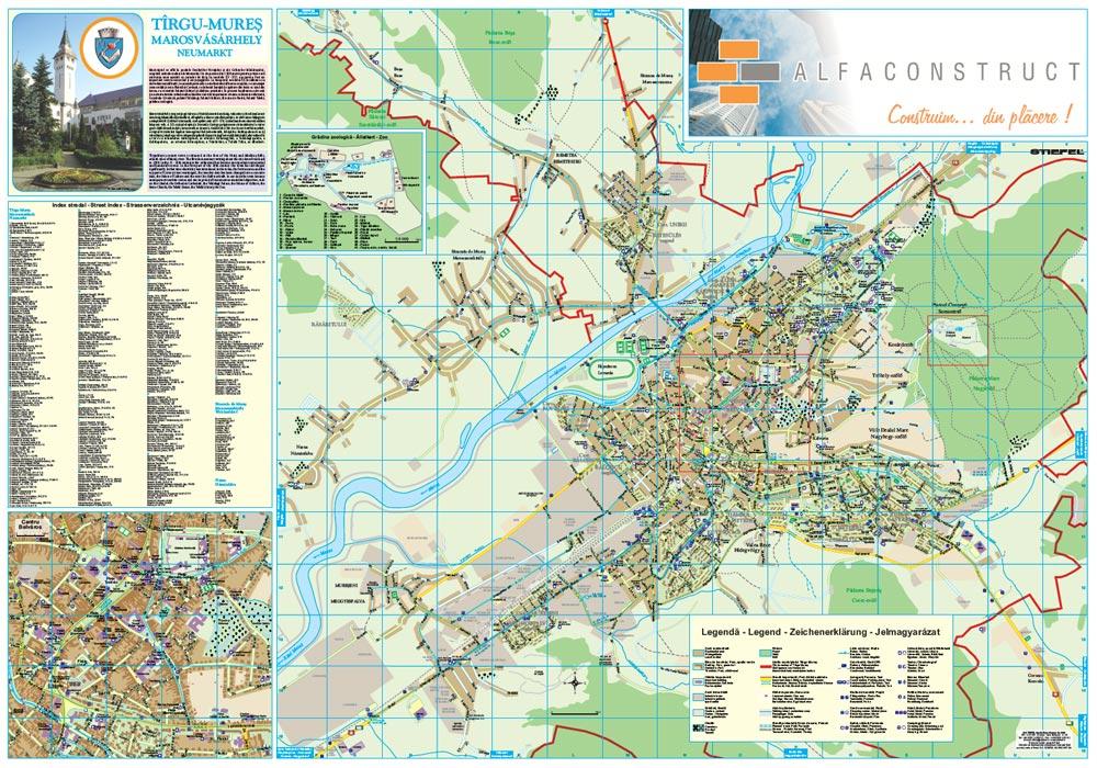 Harta Personalizata Municipiul Targu Mures Pentru Alfa Construct