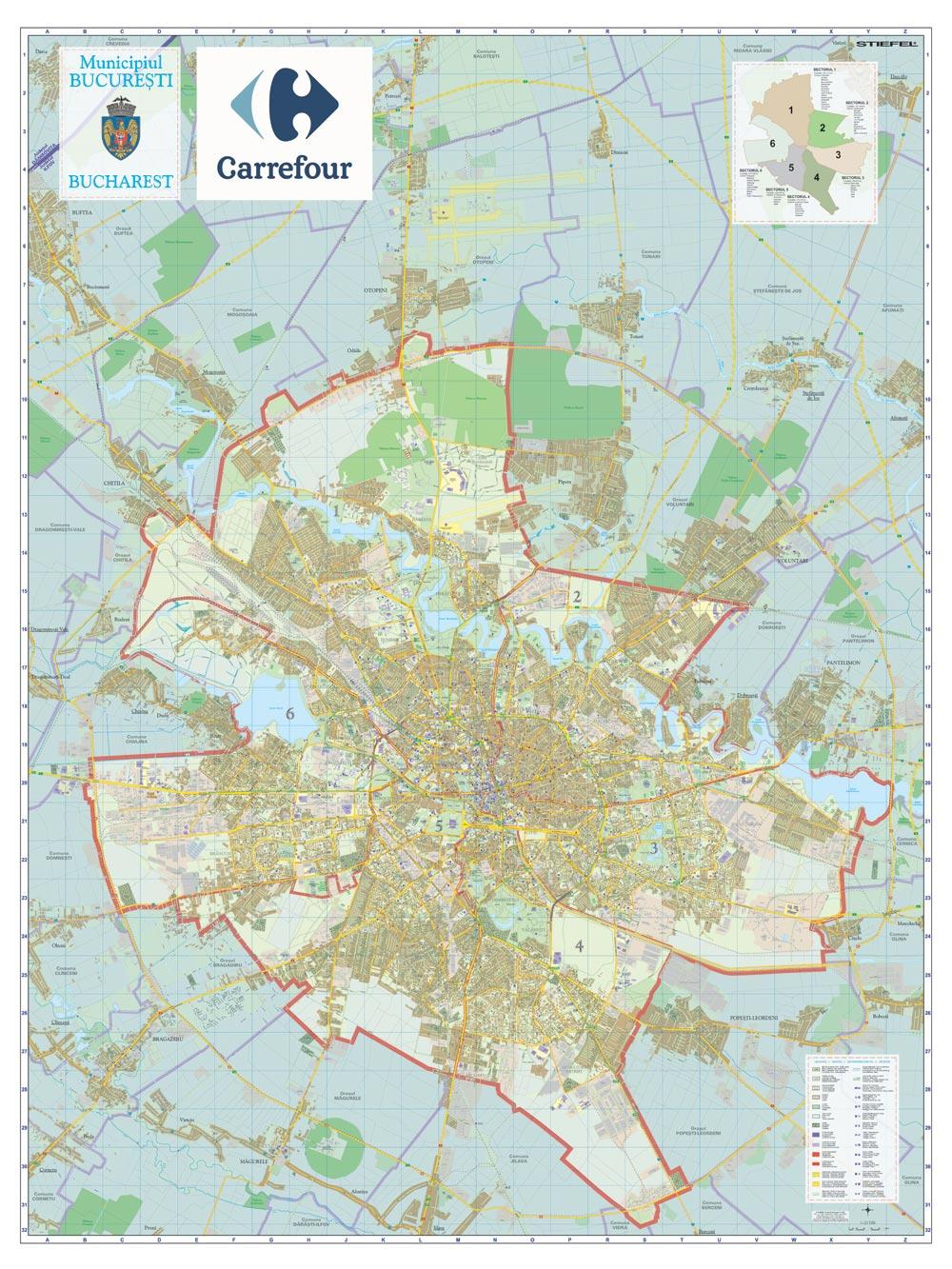 Harta Personalizata Bucuresti Pentru Carrefour Business Map
