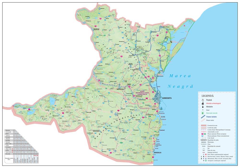 Harta Personalizata Judetul Constanta Insert Business Map