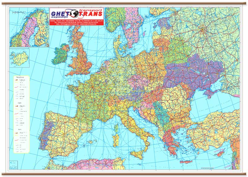 Harta Personalizata Europa Rutiera Pentru Gheto Trans Business Map
