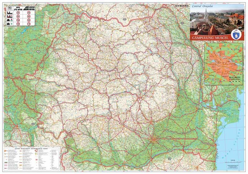 Harta Personalizata Romania Rutiera Pentru Primaria Campulung