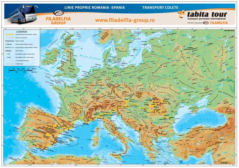 Harta Personalizata Europa Fizica Pentru Tabita Tour Business Map