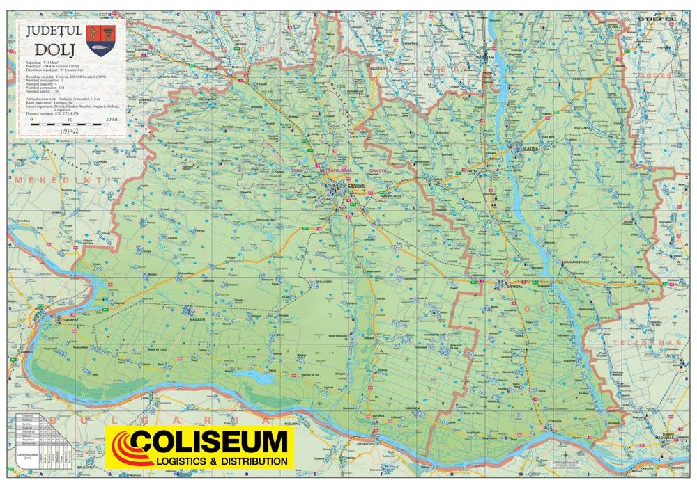 Harta Personalizata Judetul Dolj Pentru Coliseum Business Map