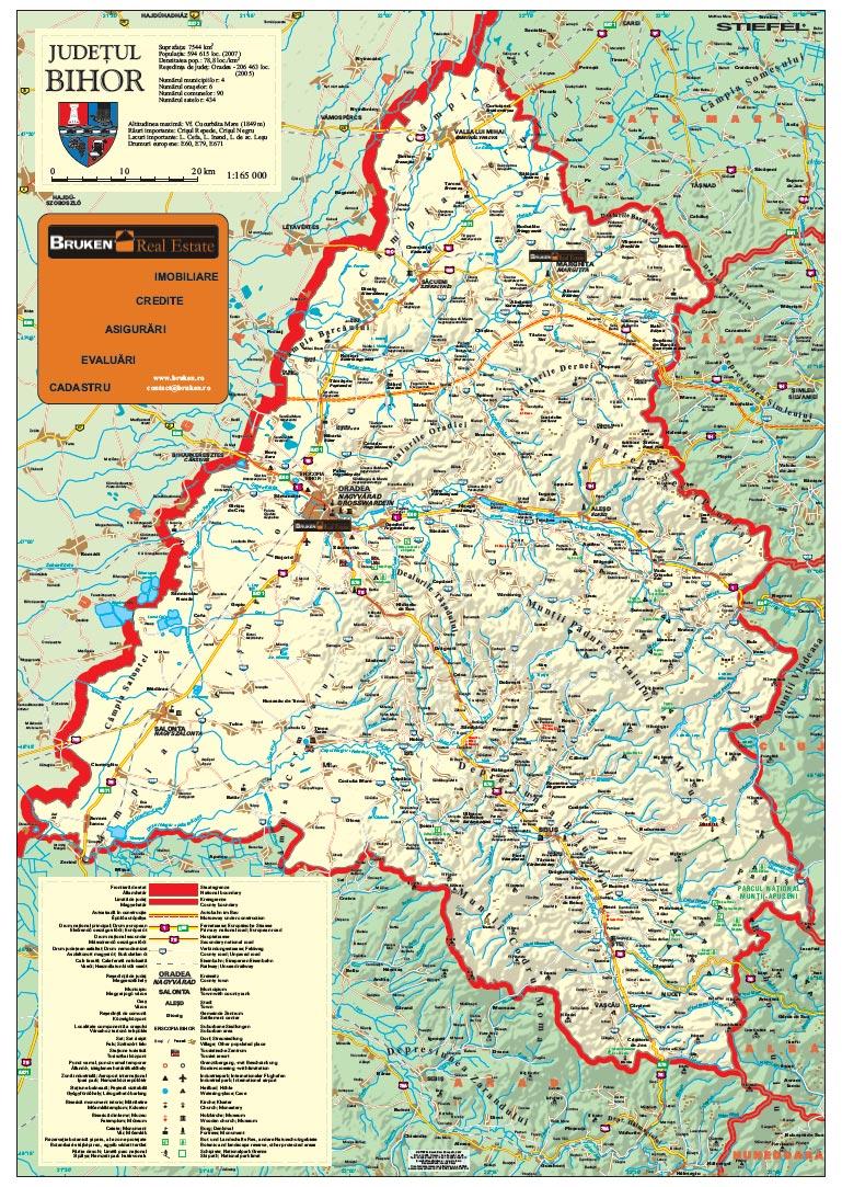 Harta Personalizata Judetul Bihor Pentru Bruken Business Map