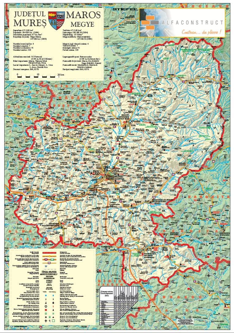 Harta Personalizata Judetul Mures Pentru Alfa Construct Business Map