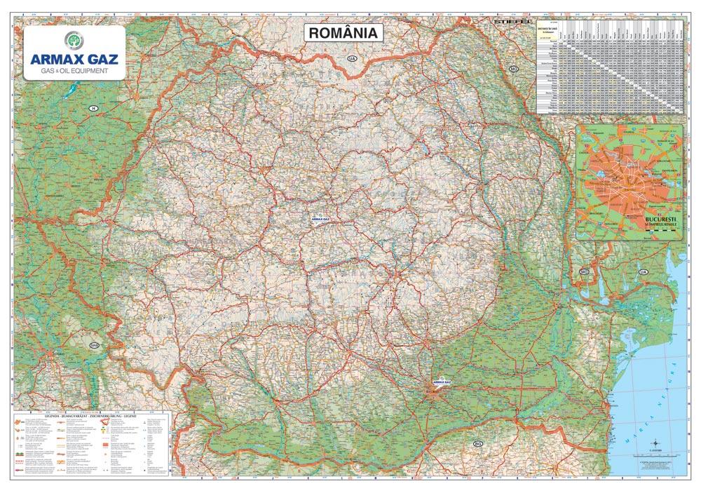 Harta Personalizata Romania Rutiera Pentru Armax Gaz Business Map