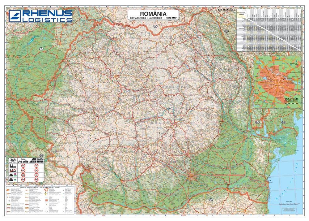 Harta Personalizata Romania Rutiera Pentru Rhenus Logistics