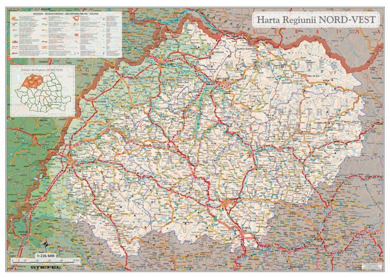 Harta Regiunii De Dezvoltare Nord Vest Harta Personalizata
