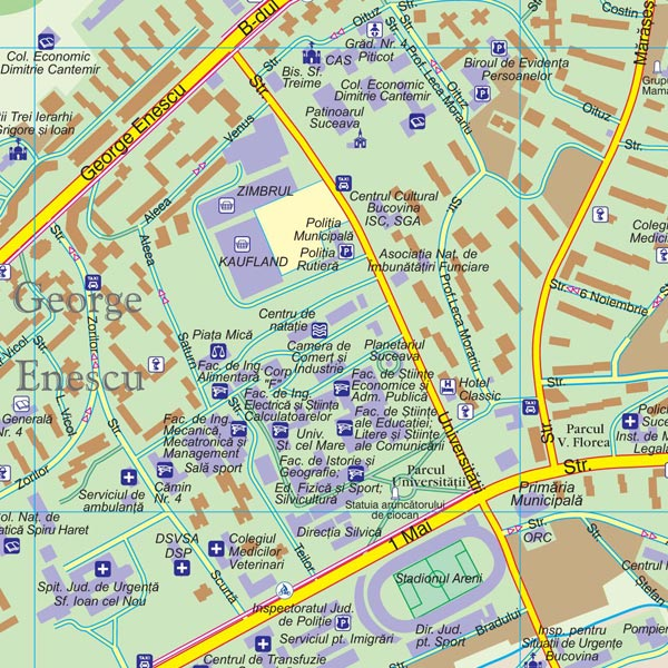 Harta Municipiului Suceava Harta Personalizata