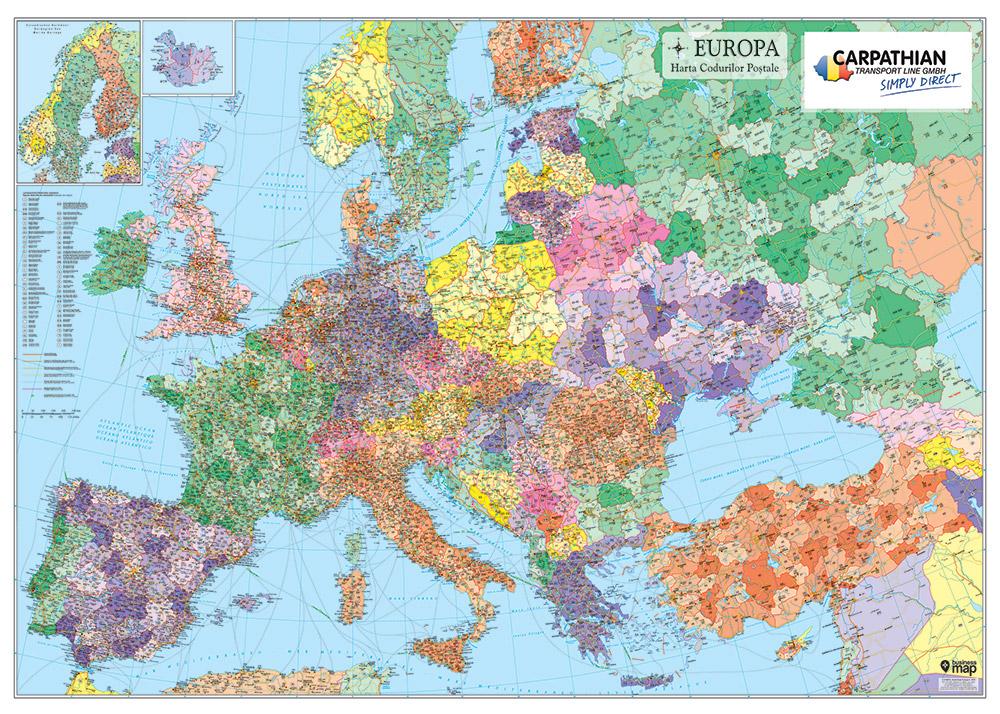 Harta De Perete Carpathian Transport Line Personalizata Business Map