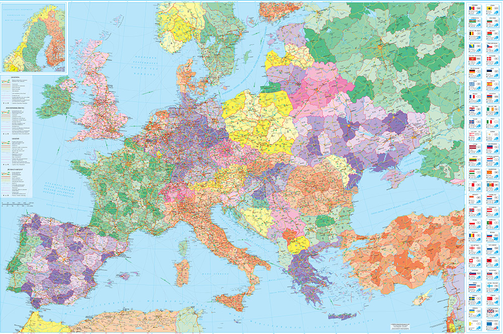 Harta Europei Business Map