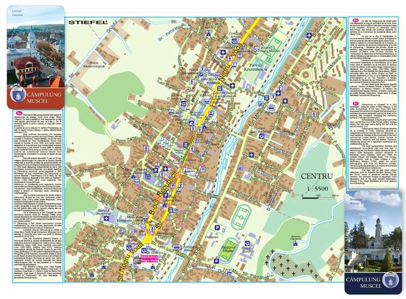 Muzeul Campulung Muscel Harta Pliabila Business Map