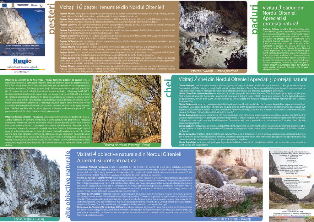 Harta personalizata Oltenia cu obiective naturale ...