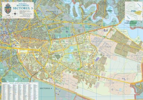 Harta Sector 3 Bucuresti Business Map